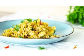 Fusilli met Curry