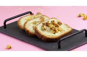 Rozijnenbrood met Smeerkaas en Walnoten