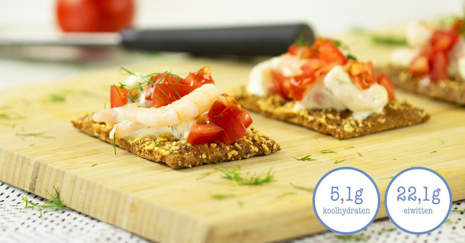 Crackers met Hollandse Garnalen | Protiplan