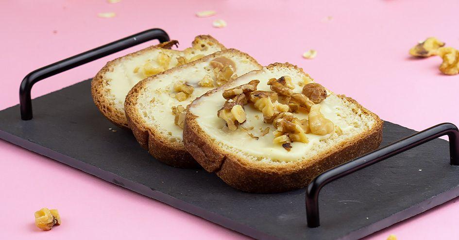 Rozijnenbrood smeerkaas walnoten | Protiplan
