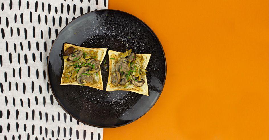 Toast roerei champignons | Protiplan