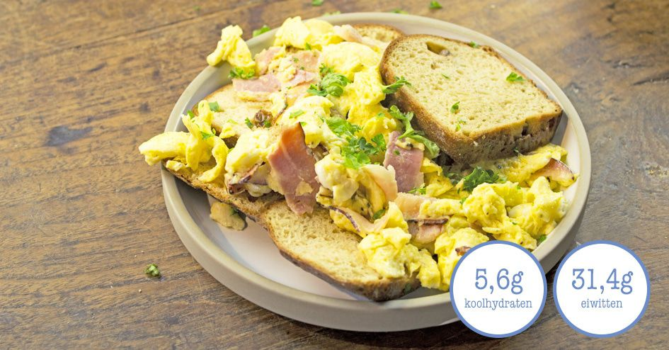 Rozijnenbrood met Scrambled Egg | Protiplan